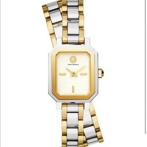 Tory Burch two tone wrap watch